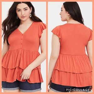 TORRID•super soft button front babydoll